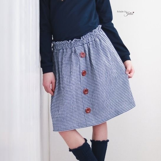Button Skirt - Rock - Gr. 86 - 164 bei Makerist - Bild 1