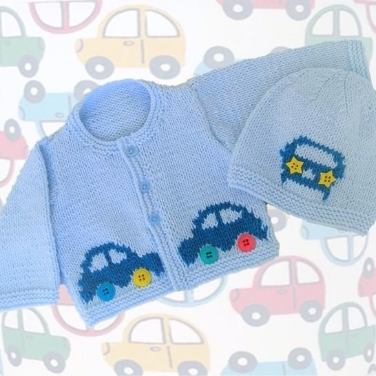 Baby Car Cardigan and Hat at Makerist - Image 1