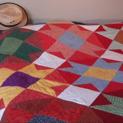 Kingsize-bed quilt PDF pattern COLOURS OF MEXICO