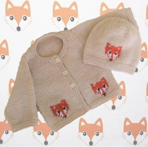 Baby Fox Jacket and Hat