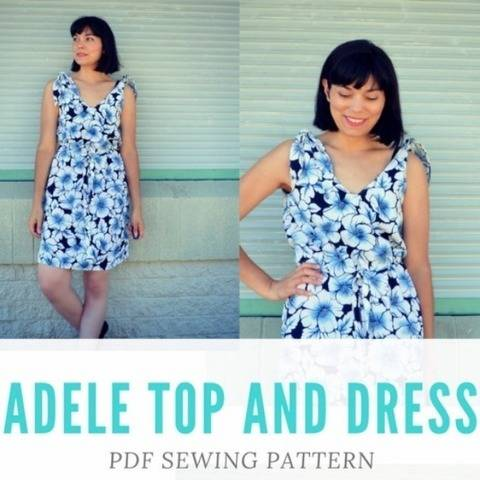 The Adele Top and Dress PDF sewing pattern and tutorial