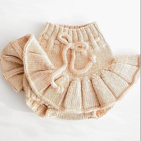 BABY BLOOMERS WITH SKIRT PDF Knitting pattern