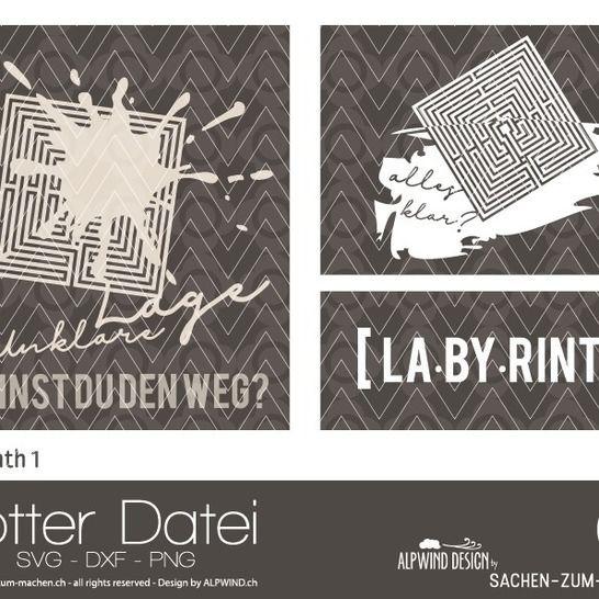 "Plotter-Datei ""Labyrinth"" #1 bei Makerist - Bild 1"
