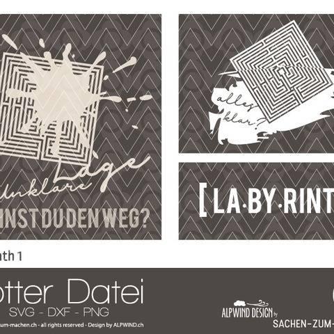 "Plotter-Datei ""Labyrinth"" #1 bei Makerist"