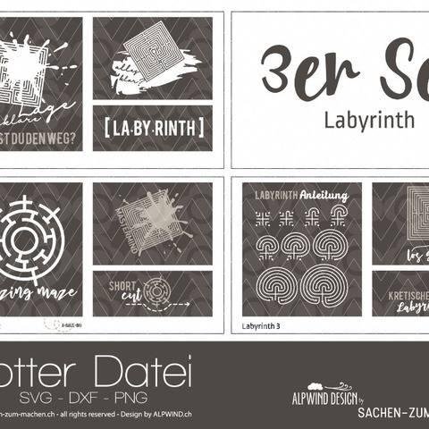 """Plotter-Datei """"Labyrinth"""" (3er-Set) bei Makerist"""