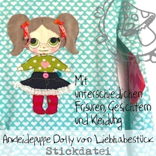 Stickdatei Anziehpüppchen Dolly bei Makerist - Bild 1
