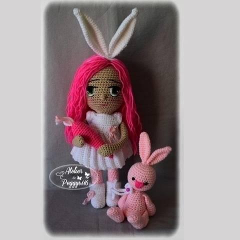 Bonny et son lapin (Poupée de Pâques)