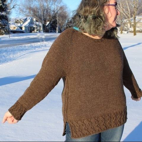 Emma Knitted Top Down Sweater at Makerist