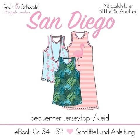 """E-Book Sportoberteil """"San Diego"""" mit tiefen Rückenauschnitt"""