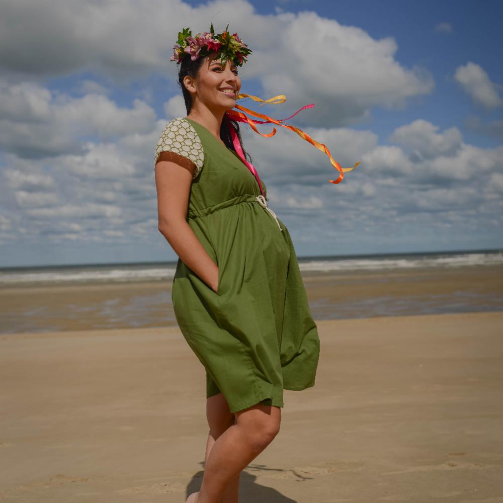 Patron robe de grossesse Charlotte