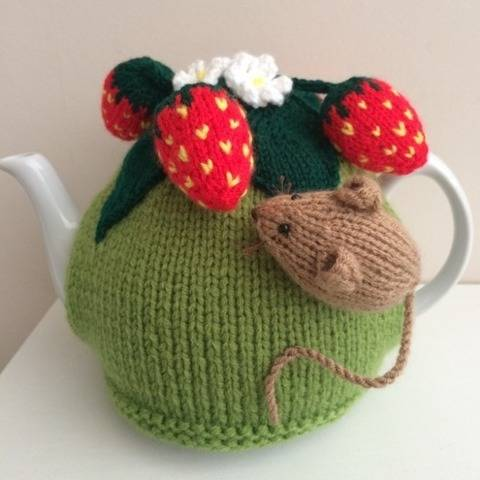 Tea cosy  Pesky mouse in the strawberry patch