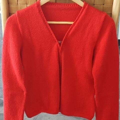 5ply cardigan with length, sleeve, neck options - Gabrielle