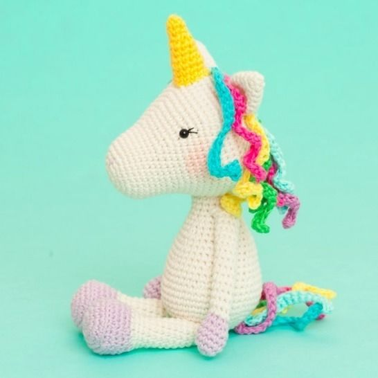 Cube Little Unicorn Amigurumi Pattern | 546x546