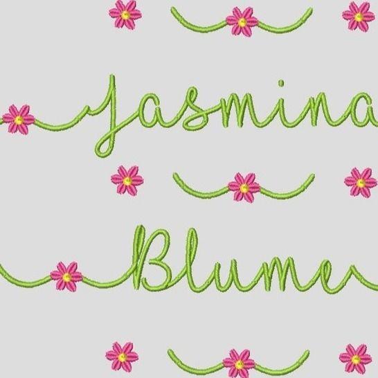Stickdatei Schrift Blume In Love ca.25mm Set 560 bei Makerist - Bild 1
