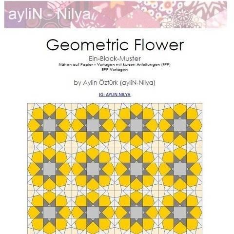 Geometric Flower (Nähen auf Papier FPP und EPP-Vorlagen)