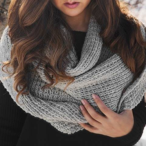 Classic Knit Blanket Scarf
