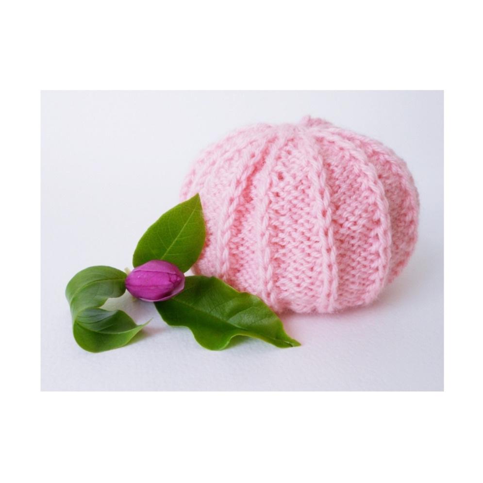 Bonnet bébé Aubépine - tutoriel tricot