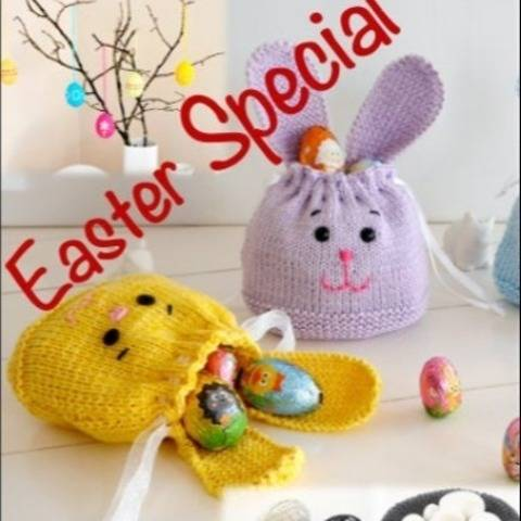 Bundle of 5 Knitting Patterns - Easter Special