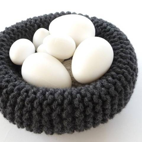 Easter - Easter Nest - Knitted Basket - No.41aE