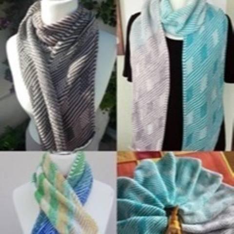 Abgehoben 1.0 - Schal mit Hebemaschenmuster stricken