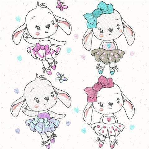 "Stickdatei ""Sweet Bunnies"" Set3 (Bunny 5+6) bei Makerist"