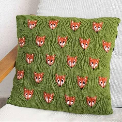 Troop of Foxes Cushion