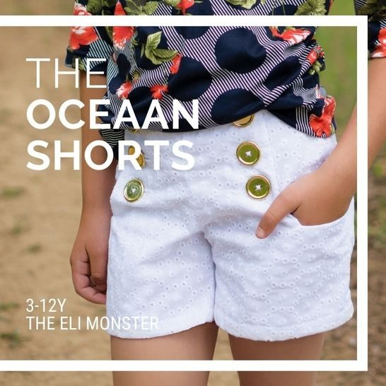 The Oceaan Shorts Sewing Pattern for Sizes 3-12y at Makerist - Image 1