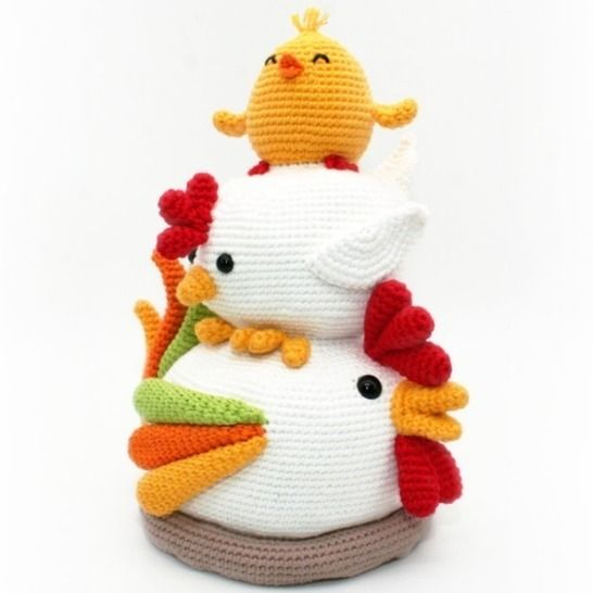 Chicken Stack - Doorstop, Decoration - Crochet Pattern at Makerist - Image 1