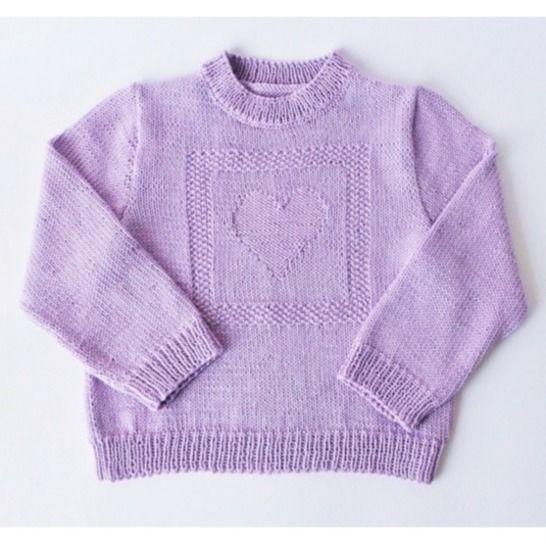 Pull enfant coeur en coton - Tutoriel tricot chez Makerist - Image 1