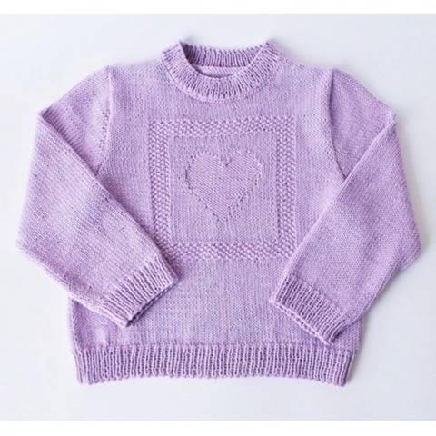 Pull enfant coeur en coton - Tutoriel tricot