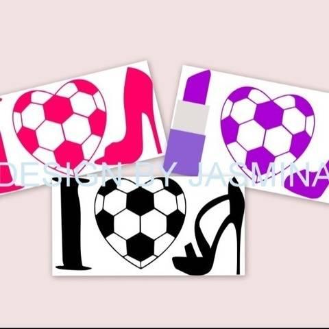Plotterdatei  SVG, Ich Liebe Fussball und Schuhe