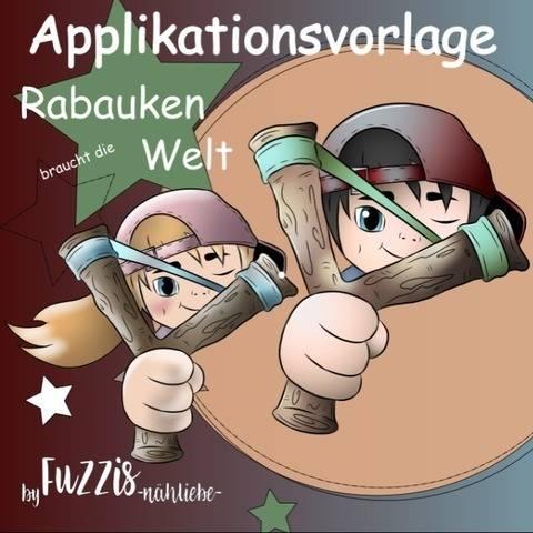 """Applikationvorlage """"kleine Rabauken"""""""