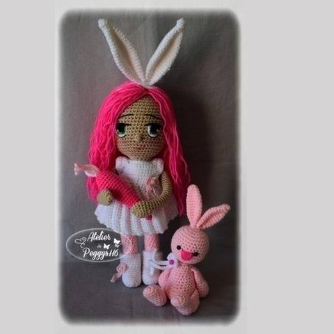 Bonny and her rabbit (Easter doll)