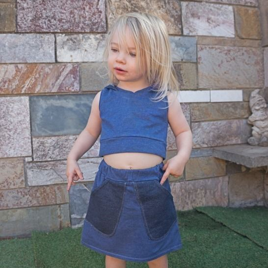 """Wallacia Hi Lo Skirt"" KIDS Sewing Pattern & E-Book Tutorial at Makerist - Image 1"