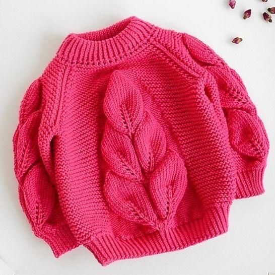 Leaf JUMPER / SWEATER PDF Knitting Pattern at Makerist - Image 1