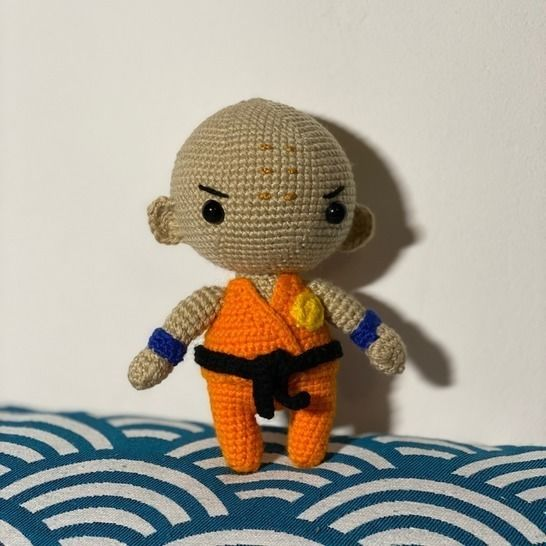 CROCHET PATTERN - AMIGURUMI KRILLIN DRAGON BALL at Makerist - Image 1