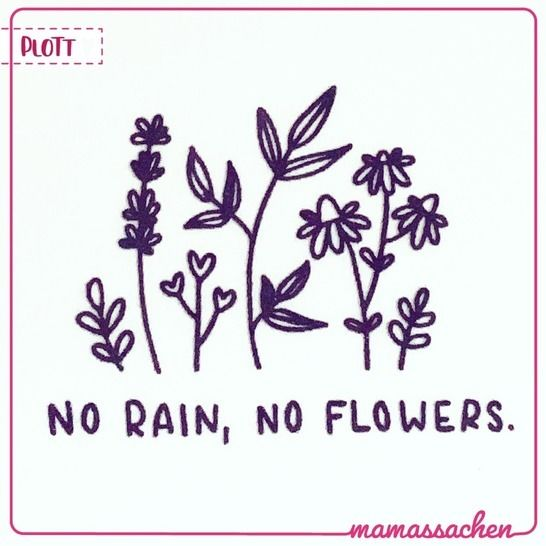 no rain no flowers | doodle-Plott bei Makerist - Bild 1