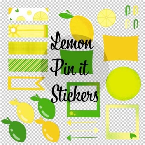 Zitronen Pin it Sticker