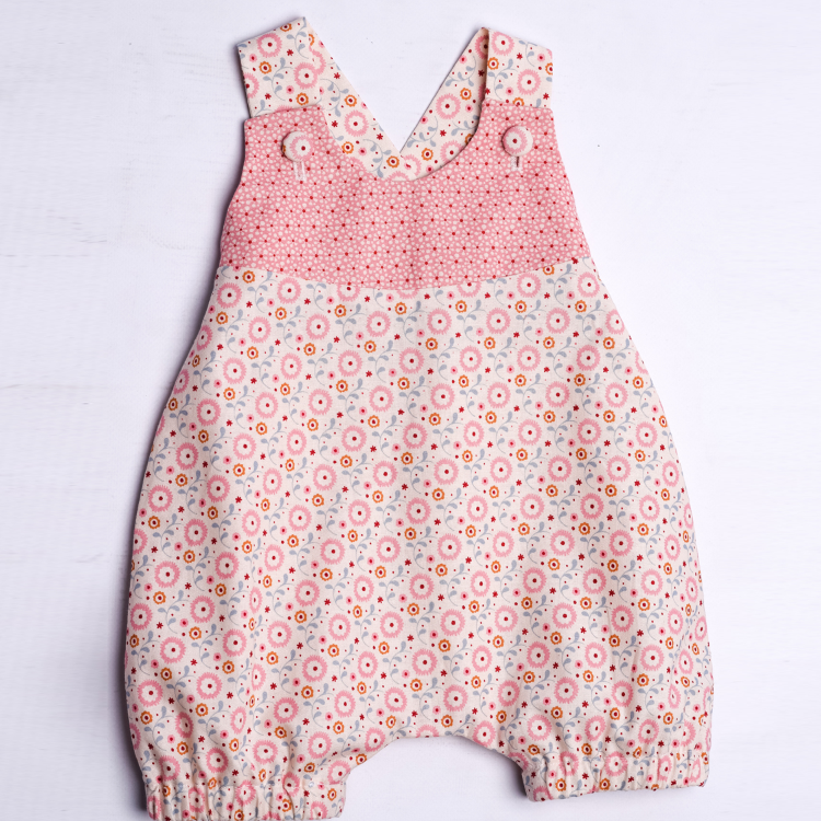 LUNA Baby overall pattern with loops and yoke