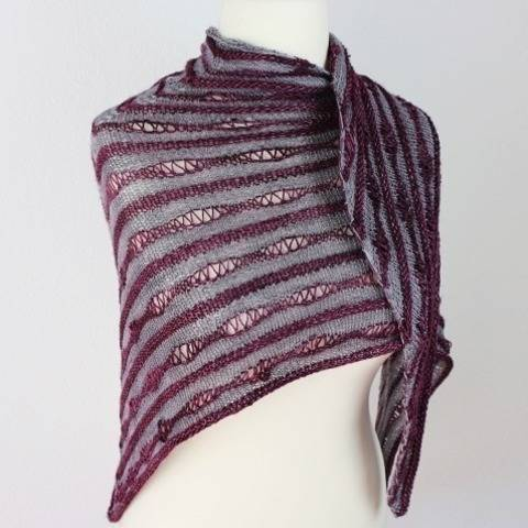 "Knitting pattern shawl ""Up and down"