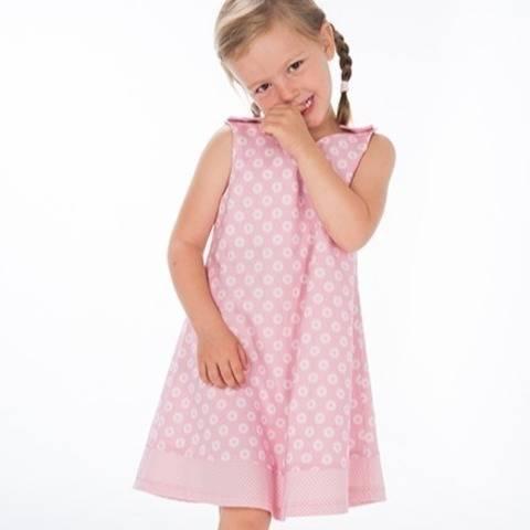 STEFFI Girls pinafore dress pattern with hem + buttons