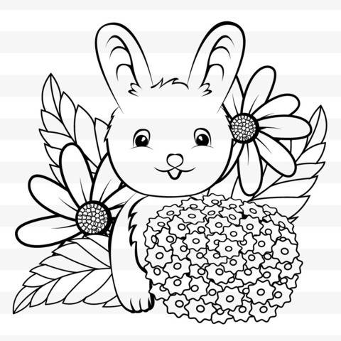 Kleiner Hase - Plotterdateien / Ausmalbild