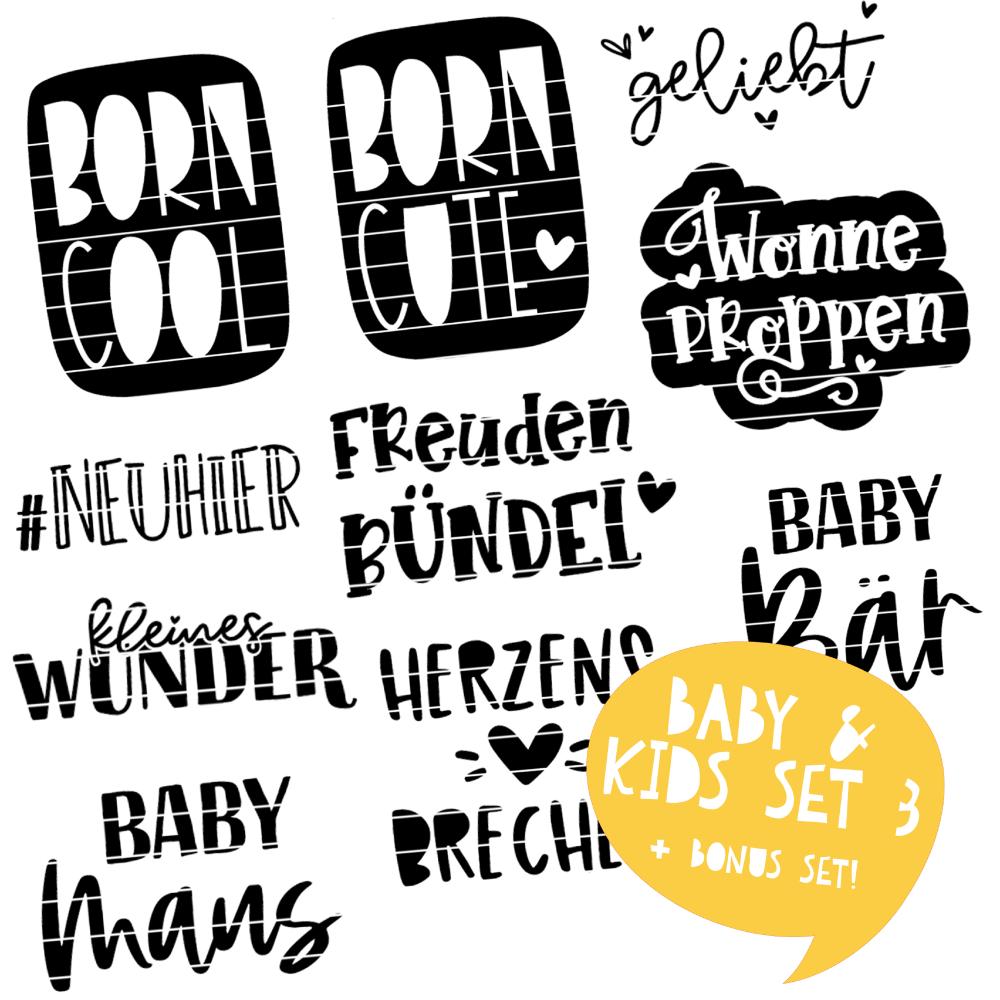 Plotterdateien für Babys & Kids SET 3 | SVG u. DXF