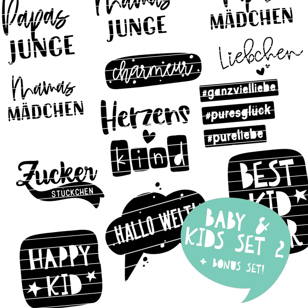 Plotterdateien für Babys & Kids SET 2   SVG u. DXF