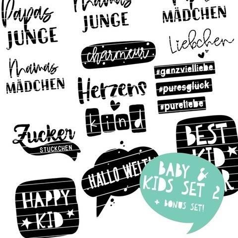 Plotterdateien für Babys & Kids SET 2 | SVG u. DXF