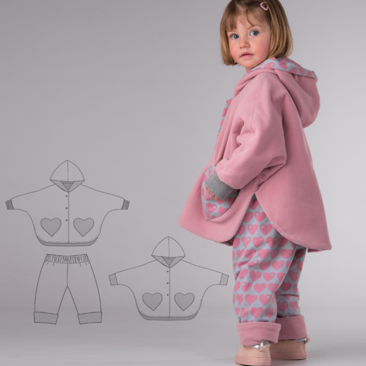 MARA and FIOCCO Baby poncho and pants pattern bundle