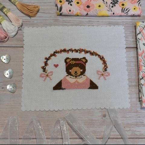 Pixie bear cross stitch