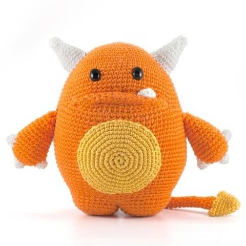 Mr. Orange Häkelanleitung Amigurumi Monster
