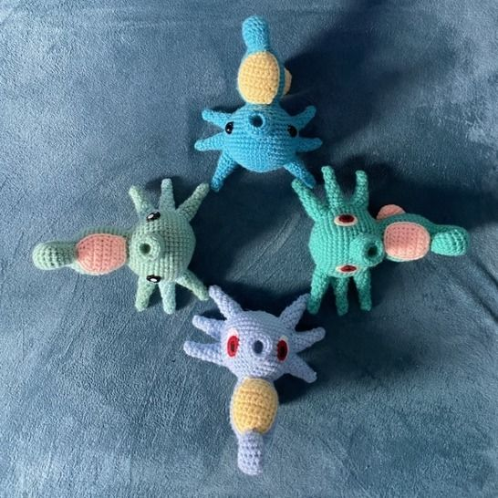 CROCHET PATTERN - AMIGURUMI POKEMON HORSEA  at Makerist - Image 1