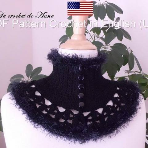 PDF Pattern in English (US) - VICTORIAN Neck warmer !!
